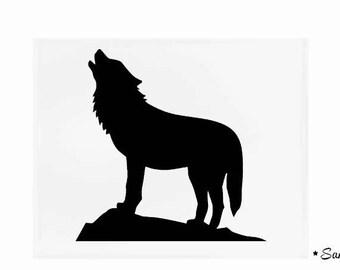 fusible applique Black Wolf