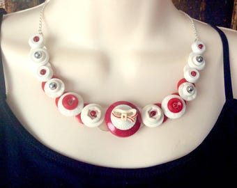 Sealed with a Kiss Button Necklace