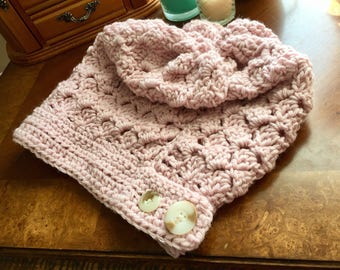 Slouchy Pink Fashion Hat