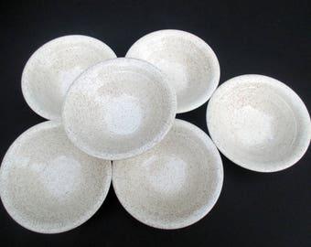 Homer Laughlin - Harlequin Table Fair - Pattern Speckled Oatmeal - Set of 6 Cereal Bowls