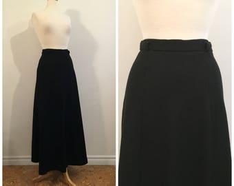Vintage BLACK MAXI SKIRT / size small