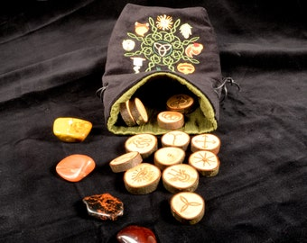 Maple Witches Runes with Carnelian Inlay (MCW1)