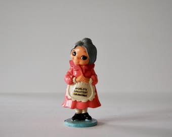 Vintage World's Greatest Grandma Figurine - Grandma Gift - Vintage Toy - Miniature Grandma Figurine - Gift for Grandmothers - Mother's Day