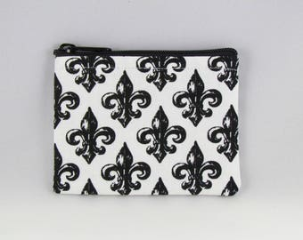 Fleur de Lis Coin Purse - Coin Bag - Pouch - Accessory - Gift Card Holder
