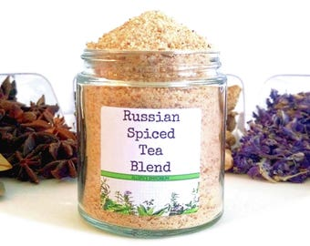 Russian Spiced Tea/Tea Favors/Tea Party/High Tea/Spice Rack/Food Gift/Gifts For Foodies/Wedding Favors/Foodie Gift/Cooking Gift