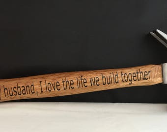Personalized Hammer Wooden - Dad Gift-Step Dad -Father Of The Bride -Godfather Gift -Personalized Hammer - Custom Hammer Gift - Gift For Him