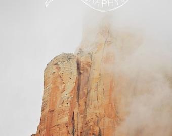 Mountan Mist in Zion National Park - Digital Download - Fine Art Photography