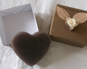 SOAP chocolate heart in its case