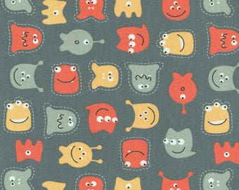 coupon patchwork child MONSTERS gray background
