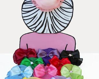 Chiffon Snood 4 inch - Ballet Bun Cover - Equestrian Show Bow - Snood - Satin Bow - Rosette - Hair Accessory - Hair Net - Bun Holder