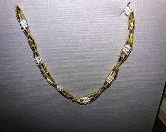 Simple Twisted Beaded Bracelet