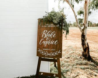 Wedding welcome sign | wooden wedding sign | Rustic wedding | Custom wedding sign | wooden event sign | engagement sign | wedding props
