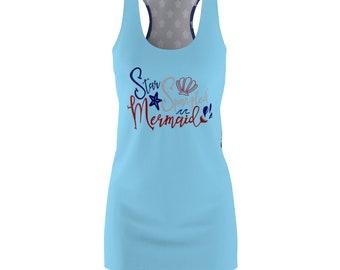 Mermaid Dress Fourth Of July Dress Summer Dress Womens Dress Patriotic Dress Fourth Of July Outfit Fouth Of July Shirt