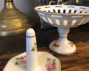 Adorable set of trinket holders, ring holder