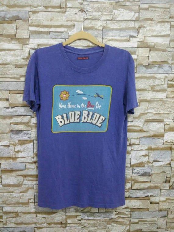 Vintage Blue Blue Japan Shirt Rare T-Shirt Blue Blue Japanese Designer Blue Sky McCoy Buzz Rickson Toyo USN Medium ec7ALbhmw