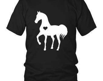 Unisex Horse Shirt / Horse Heart Tshirt / Gift for Horse Lover / equestrian gift / horse gifts  / horse clothing / horse birthday party