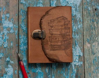 Travel Journal, Suitcases Journal, Travel notebook, Handmade Journal, Brown Leather Journal,   Travel book