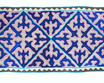 Area rug, Handmade rug, Blue felt rug, Pure felt, Burchtuk, 85X147cm