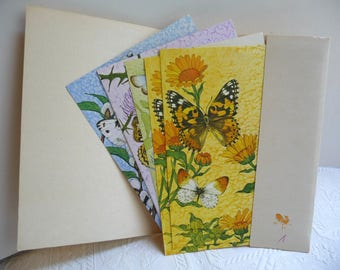 Vintage Stationery, Butterfly Stationery, Cards, Fold and Mail, Postcards, Current,Paper,Just a Notes,Letter Writing,Butterflies,Set of Nine