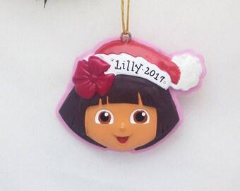 Dora the Explorer Christmas Ornament / Personalized Christmas Ornament / Hand Personalized