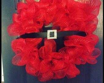 Festive Christmas Wreath - Santa Claus