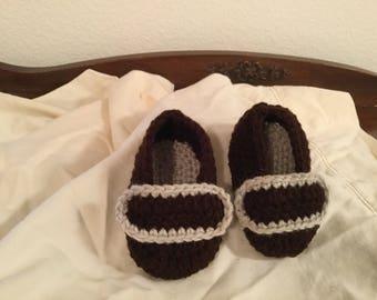 Crochet Baby Boy Loafers