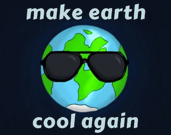 Make Earth Cool Again Climate Change Global Warming Anti-Trump Protest Resistance Postcard
