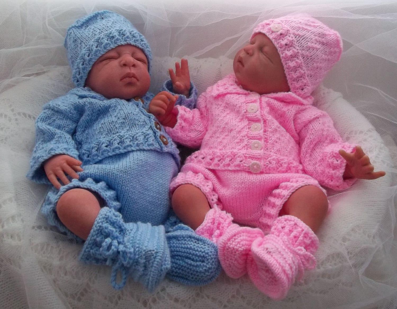 Baby Knitting Pattern Boys/Girls or Reborn Dolls Textured