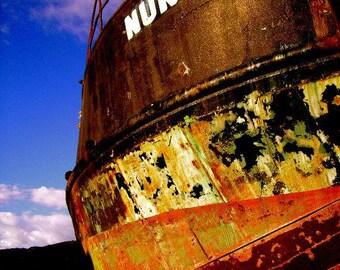 Alaska - Print, Boat Yard - Seward, Alaska