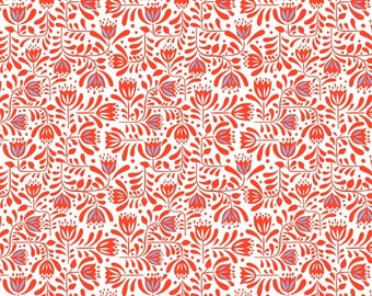 Red Hann's Floral - Hann's House - Lewis and Irene - A278-2  - Available in Fat Quarters, Half Yards and Yards