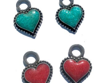 Rockin Out Jewelry - Beloved - Earring - Charms - Heart - Turquoise - Red - Coral - Western Style - Womens - Collection - Valentines For Her