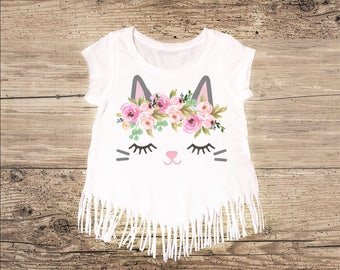 Kitty Shirt with Fringe