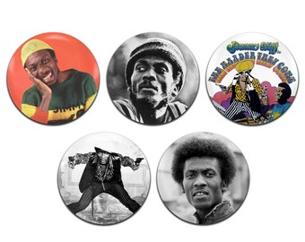 5x Jimmy Cliff Reggae 25mm / 1 Inch D Pin Button Badges