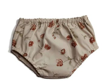 bloomers / diaper cover / baby bloomers / assorted bloomers / underwaer for baby / khaki  / pink/ orange/ burgundy /