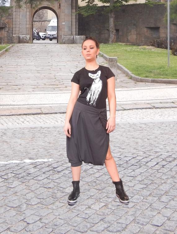 Drop Crotch Loose Shorts / Asymmetric Skirt Pants / Oversized Shorts / Maxi Casual Shorts / Plus size Urban Sexy Shorts