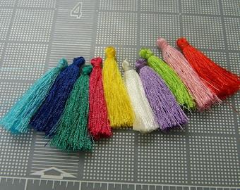 1.5 Inch Small Tassels - Mini Tassel - Tiny Tassel - Polyester Pendant Tassels In 18+ Colors - 5 Per Order