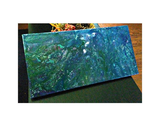 """Featured listing image: Flat World- 10""""×20"""" Abstraction on canvas"""