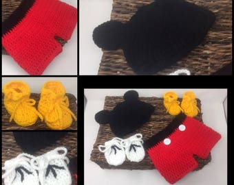 Mickey Mouse Crochet Outfit
