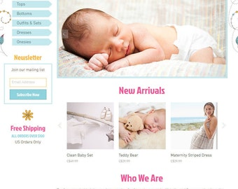 Premade Wix Website • Baby Store Theme