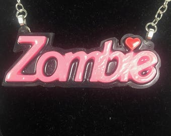 Zombie Barbie Necklace