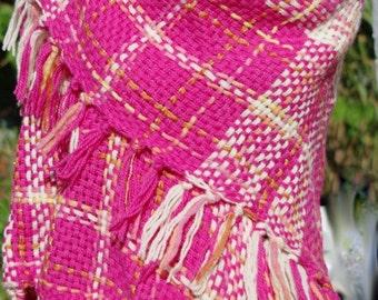 Rainbow Raspberry Sparkle Sherbet Triangle Shawl