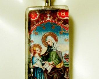 Saint Anne pendant with chain - GP12-405