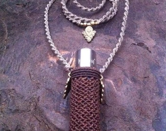 Handmade macrame lighter holder, lighter necklace, lighter case