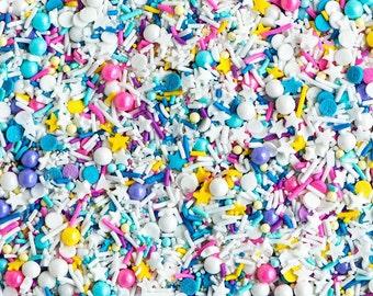 PIXIE Sprinkle Medley - 4 oz (1/2 cup) jar - Jimmies, Skinny Sprinkles, Canadian - Sweetapolita