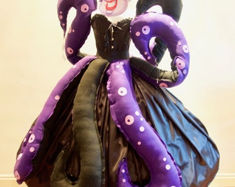 Women's Ursula Seawitch inspired Costume Villain Party, Various Sizes