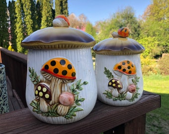 Mushroom Cookie Jar Japan