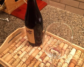 Decorative and Functional Wine Cork Tray