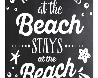 What Happens at the Beach Stays at the Beach..... poster/sign/print   ~