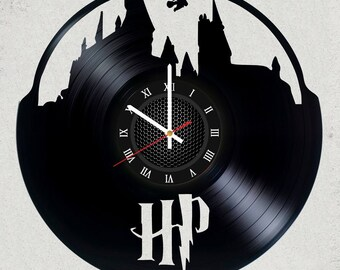 Harry Potter Vinyl record Clock Size 12 inches / 30 cm HARRY POTTER  gift for kids Harry Potter party decor Harry Potter Vinyl record Clock