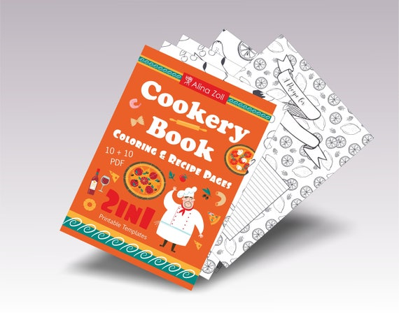 Colouring Pages Pdf For Adults : Coloring pages food coloring book for adults recipe pages